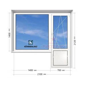 балконный блок коммерлинг в 16 этажку