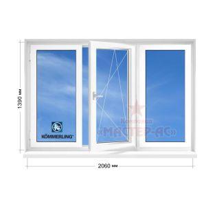 купить окна коммерлинг трехстворчатые в 5 этажку