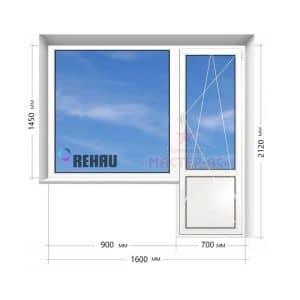 балконный блок рехау в 9 этажку
