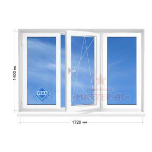 окно века трехстворчатое в 16 этажку