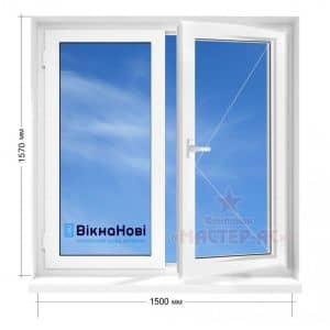 окна викнанови двухстворчатые