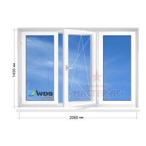 окно вдс олимпия трехстворчатое в 9 этажку